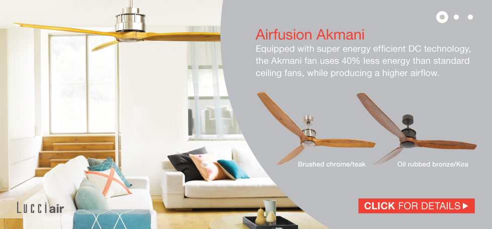 DC Akmani Ultra Low Energy Ceiling Fan Available In UK